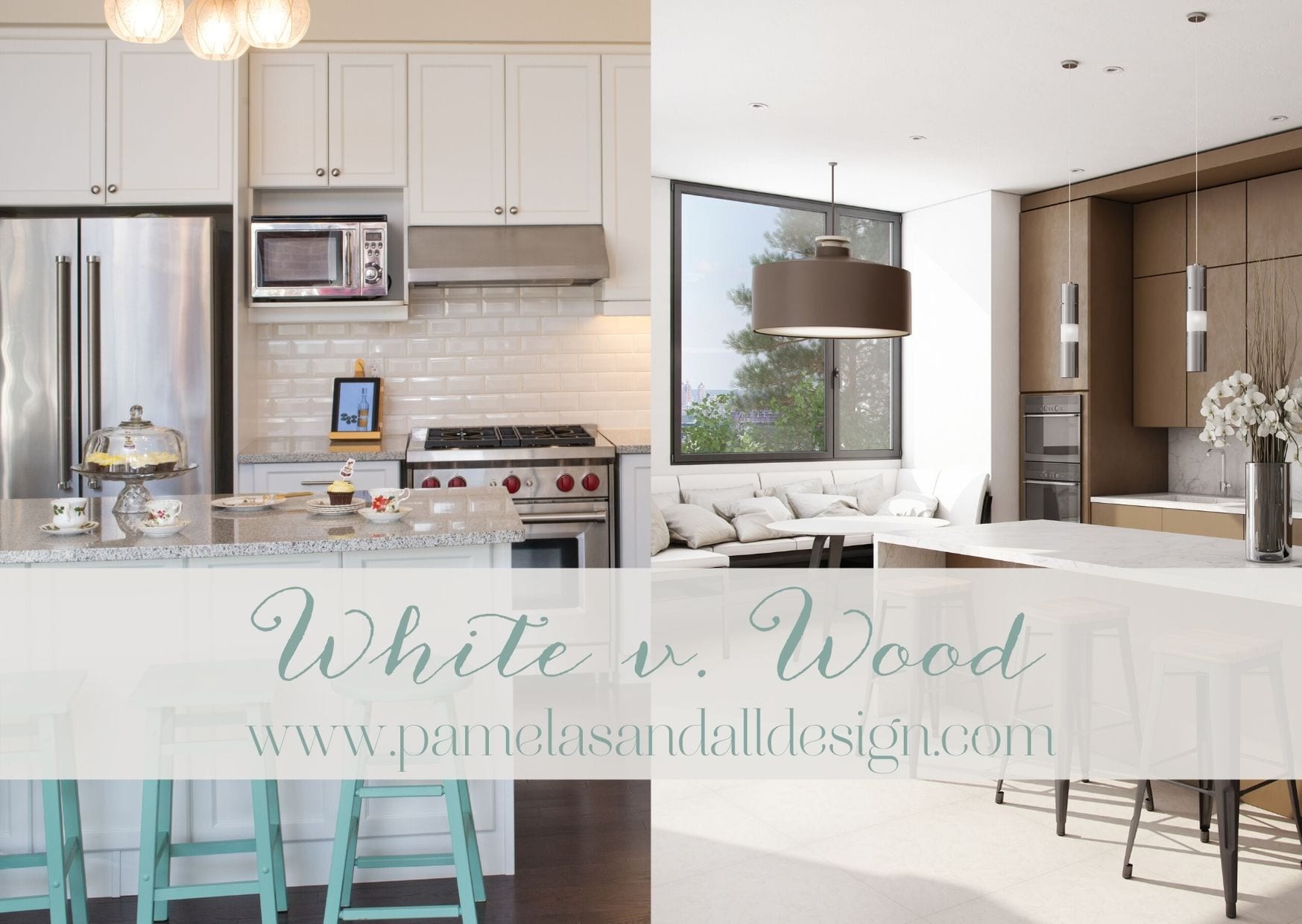 White Versus Wood Where Are Kitchen Cabinets Headed Pamela Sandall Design