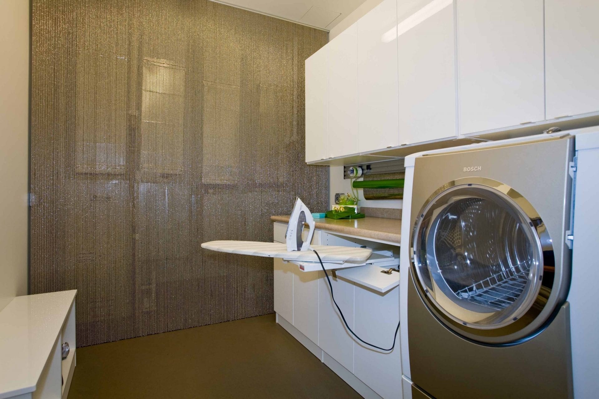 "A ""pearl"" of a laundry room."