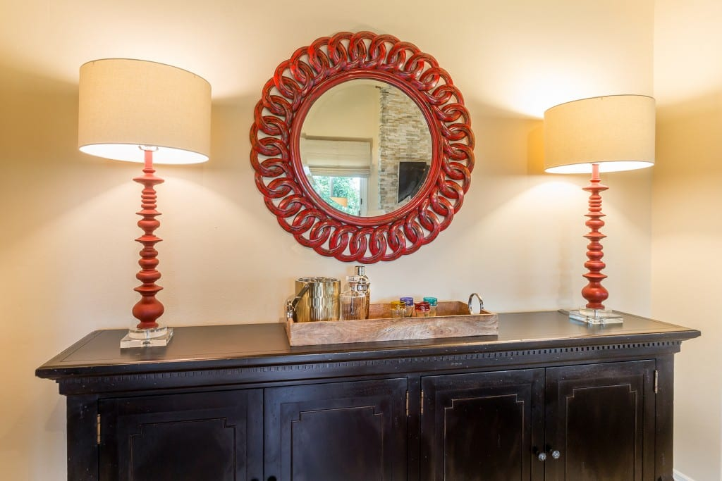 Bohemian on the Ridge Sideboard with Red Mirror